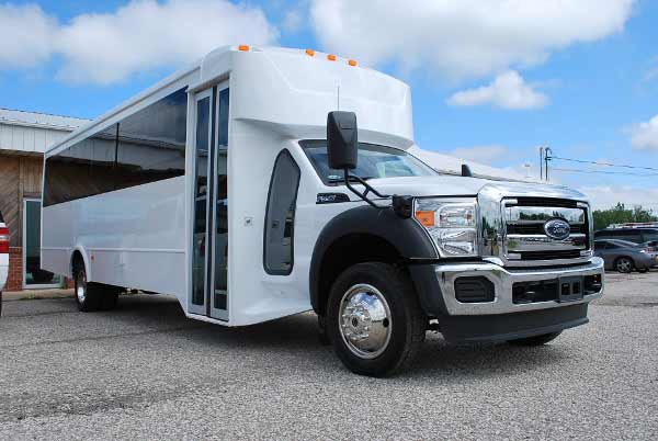 22 Passenger party bus rental Great Neck Plaza