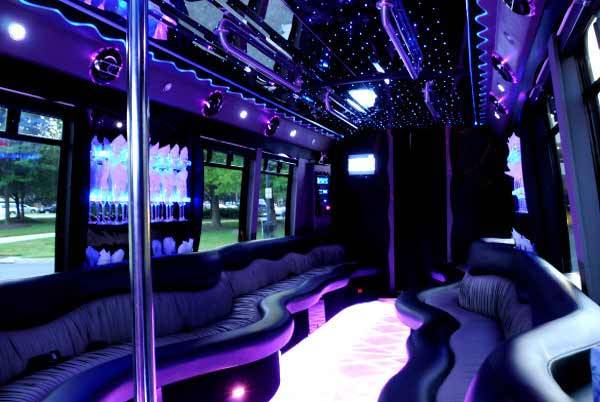 22 people party bus Blodgett Mills