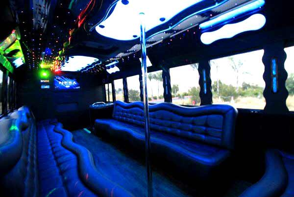 40 person party bus Blodgett Mills