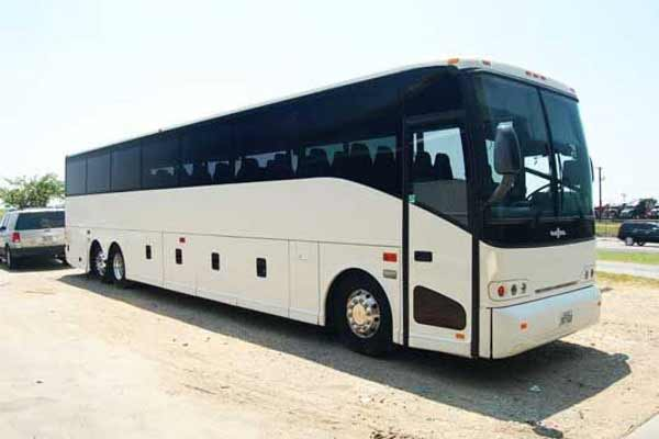 50 passenger charter bus Great Neck Plaza