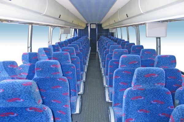 50 people charter bus Hall