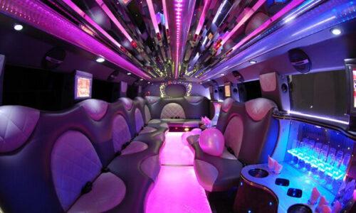 Cadillac Escalade Amsterdam limo interior