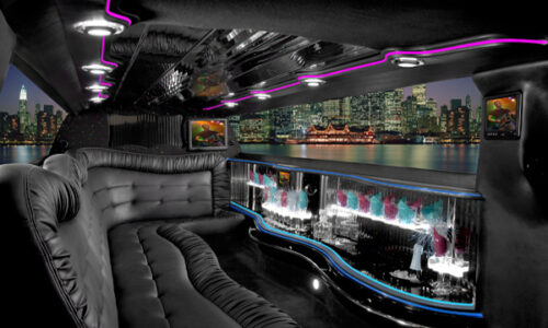 Chrysler 300 Amsterdam limo interior