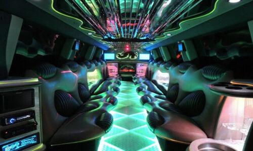 Hummer limo Amsterdam interior
