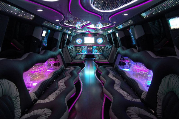 black hummer limousine Newark Valley