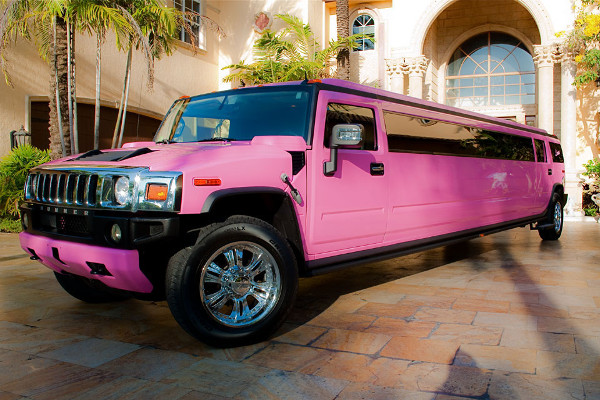 pink hummer limo Woodstock