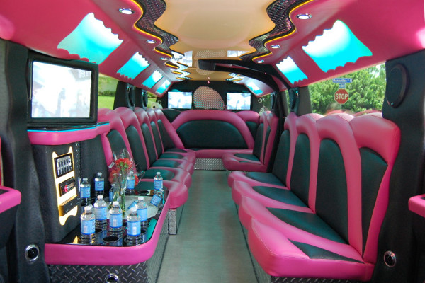 pink hummer limousine Newark Valley