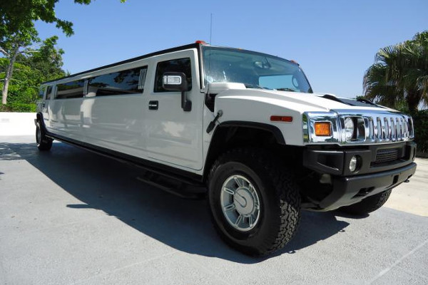 white hummer limo service Newark Valley