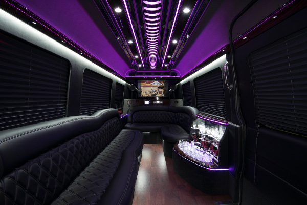 12 Passenger Party Buses Almond